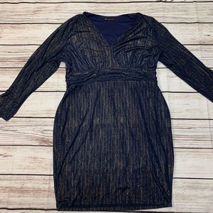 Fashion to Figure size 3x Navy Blue and Gold Dress